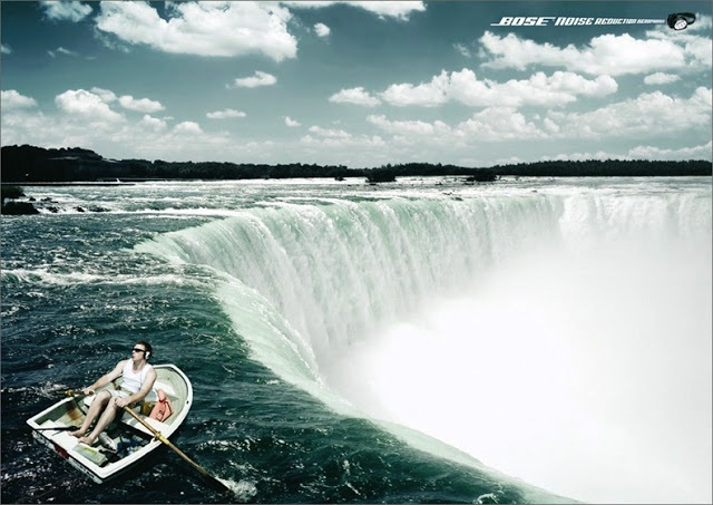 Bose Noise Reduction Headphones - Waterfall Ad