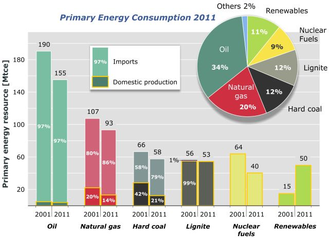 Primary Energy Consumption in Germany - 2011