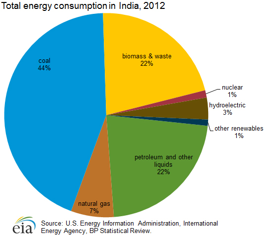 Makeup of India Energy Consumption