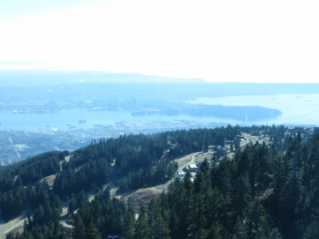 View of Vancouver from the mountaintop