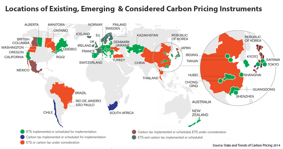 Global Carbon Pricing Map