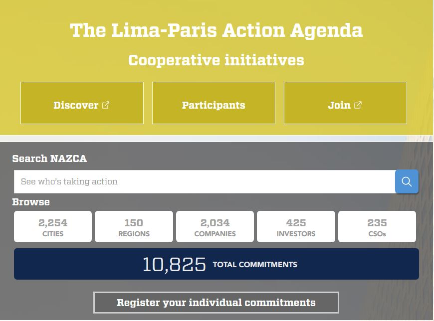UNFCCC Climate Commitments - Cities, Regions, Companies