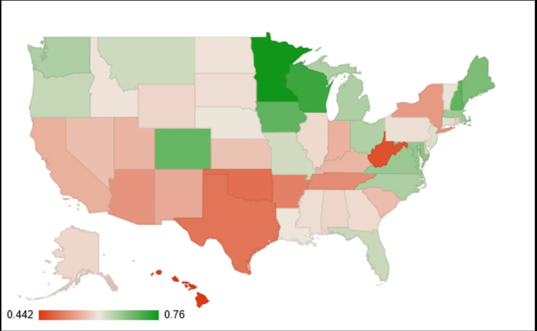 2012 voter turnout state US