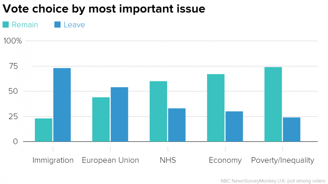 Brexit vote by issue