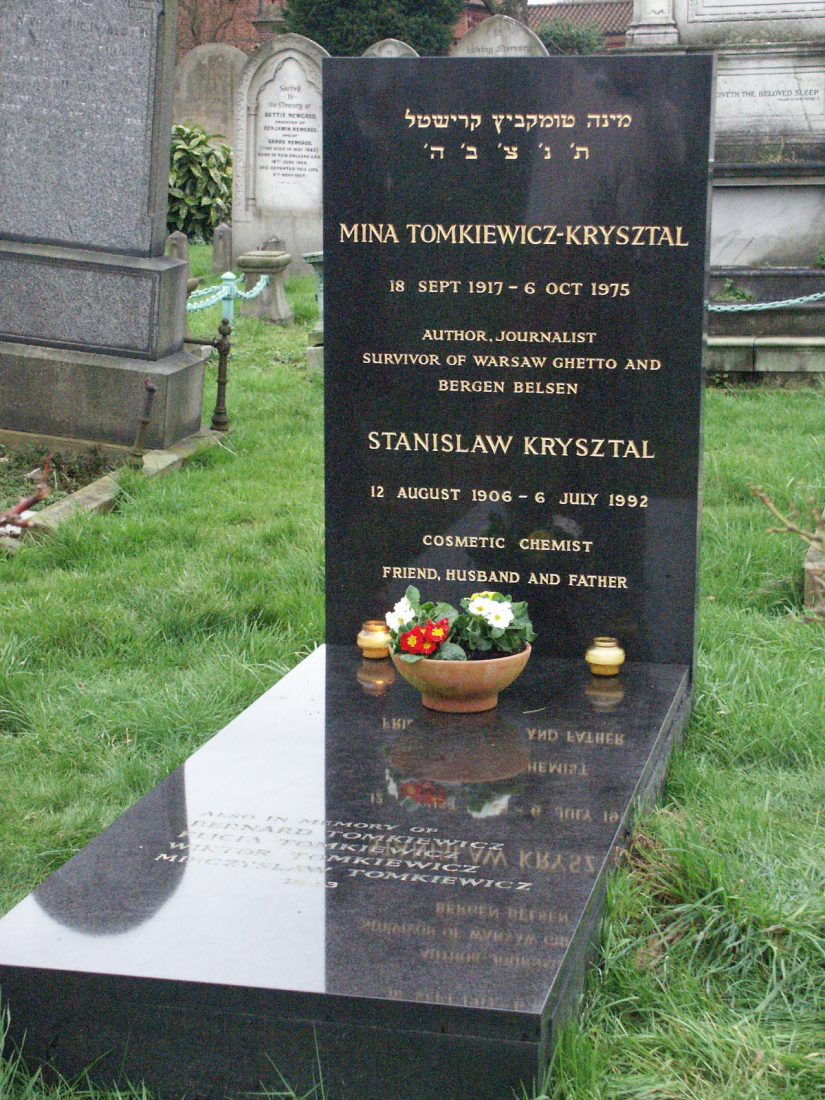 Mina Tomkiewicz gravestone London 1