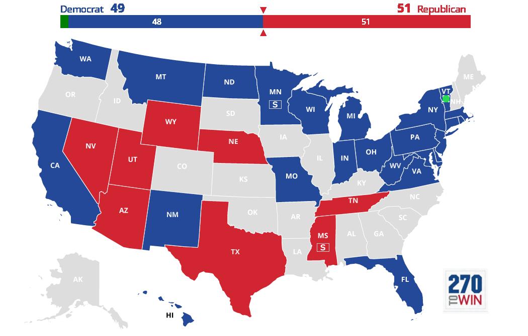 2018 Senatorial map
