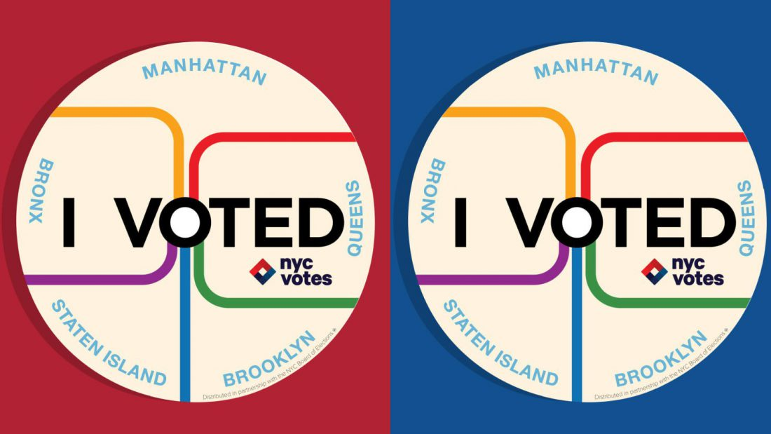 NYC I voted stickers