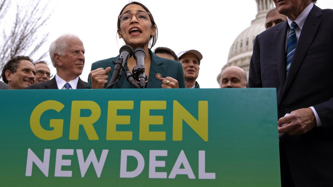 Alexandria Ocasio-Cortes, Green New Deal, resolution, mother jones