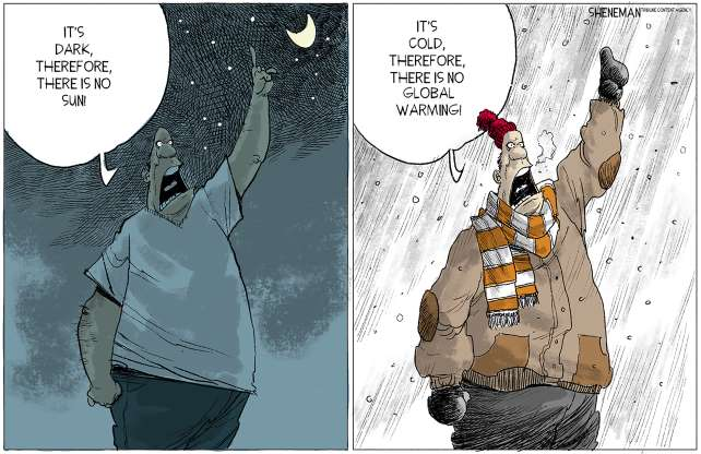 comic, weather, denial, climate change, global warming