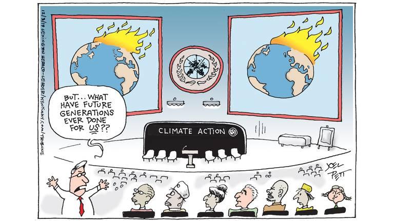 Climate Quid Pro Quo, cartoon, future, kids, children, generation, action
