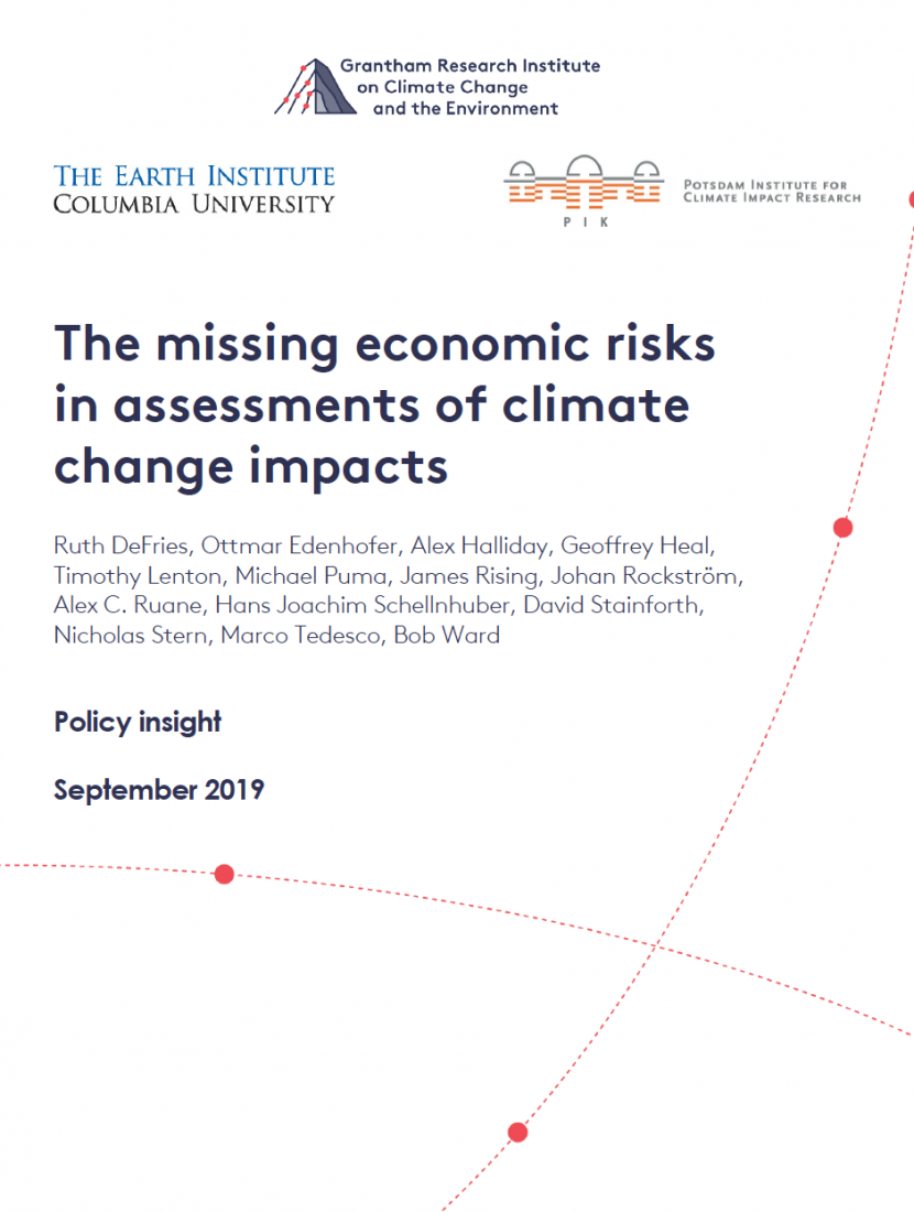 report on economic risks of climate change