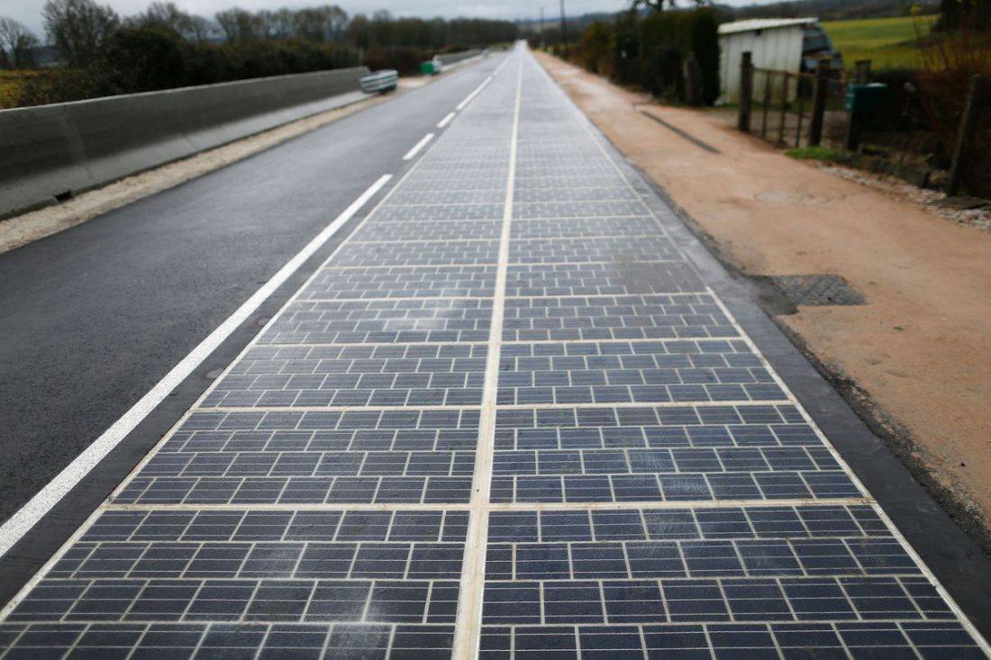 solar road, France, Normandy, electricity