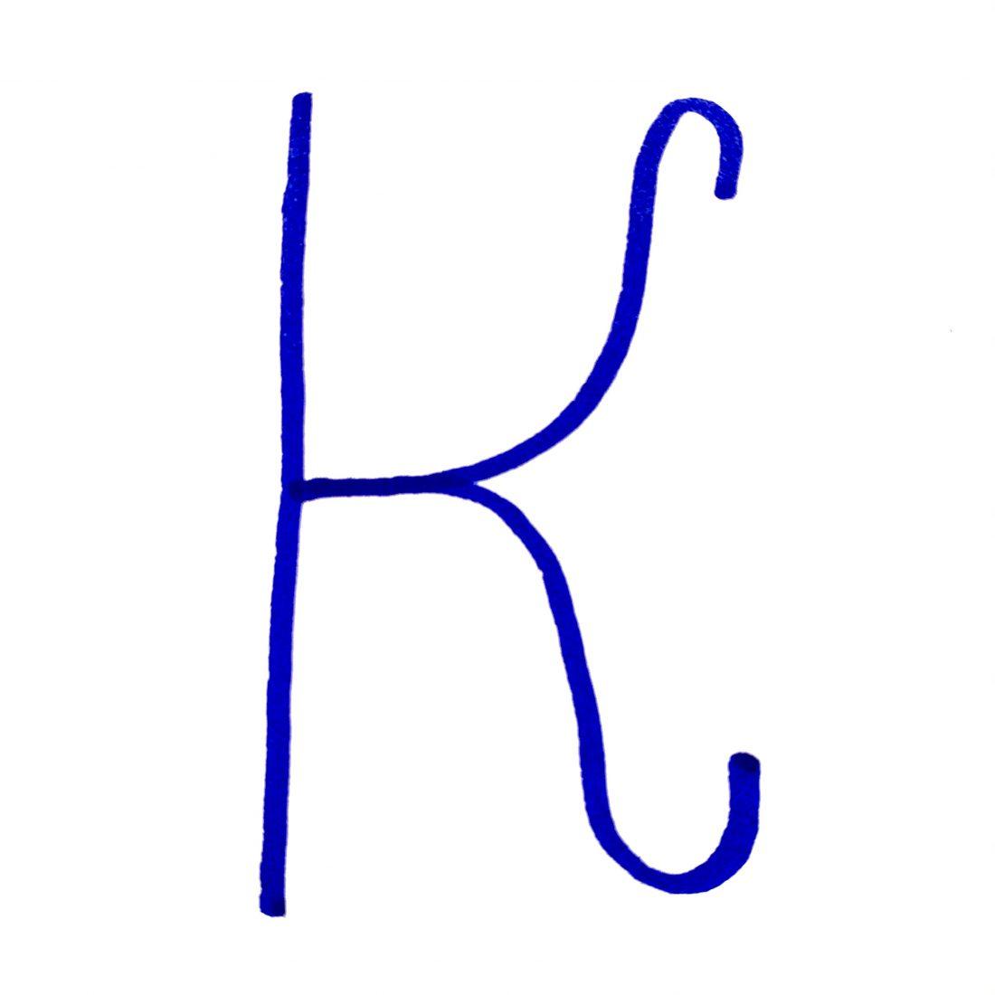 Handwritten letter K